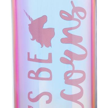 Let's Be Unicorns Double-Wall Water Bottle