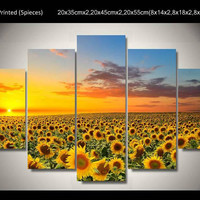 5 Panel Scenery Canvas Wall Art