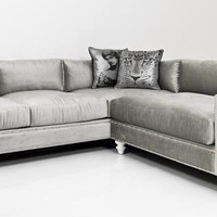 Doris 3 piece smoke sectional sofa with from overstock for Doris 3 piece sectional sofa