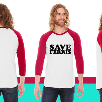 Save Ferris American Apparel Unisex 3/4 Sleeve T-Shirt
