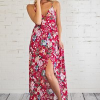 Let's Cruise Maxi Dress : Red