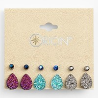 Orion 'Druzy' Stud Earrings (Set of 6) | Nordstrom