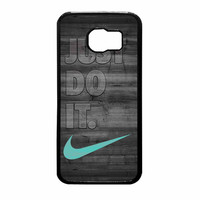 Nike Mint Just Do It Wooden Gray Samsung Galaxy S6 Case