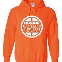 This Girl is 13 Made In 2001 Printed Graphic Hooded Sweatshirt Makes Great 13TH Birthday Gift awesome Hoodie Fantastic Holiday Gift
