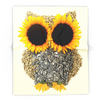 Society6 Hoot! Day Owl! Blanket