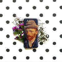 Selfportrait - Van Gogh iPhone Case 6, 6S, 6 Plus, 4S, 5S. Mobile LG Galaxy Phone Sony. Art Painting. Gift Idea Anniversary Gift for him/her