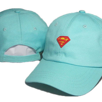 Superman Embroidered Baseball Cap Hat