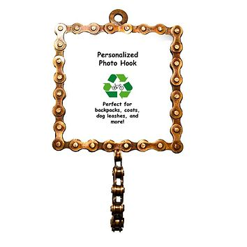 Square Bicycle Chain Picture Frame Hook - Mira (P)