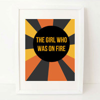 Hunger Games quote art print Katniss The by exlibrispaperdesigns