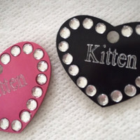 Colourful Diamond Personalised Engraved Tag Kitten Play BDSM Add On