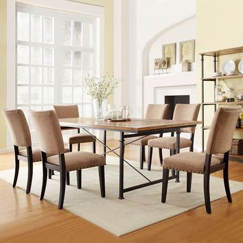 HomeVance Decklin 7-piece Industrial Table and Chair Dining Set (Brown)