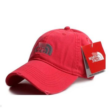 PEAPDQ7 Watermelon Red The North Face Cotton Baseball Golf Cap Hat