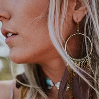 Lovebirds Feather Earrings - Brown