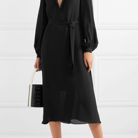 Equipment - Francois washed-silk midi dress