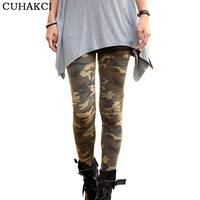 2017 New Brands Women Leggings High Elastic Skinny Camouflage Legging