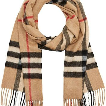 Burberry Women's Classic Check Cashmere Scarf