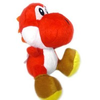 "Super Mario Brothers Yoshi Red Ver 6"" Plush"