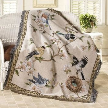 ESBU3C Tapestry Wall Hanging Window Curtain 100% cotton high quality sofa table cloth, fwoolen blanket, casualdust cover,150*125cm
