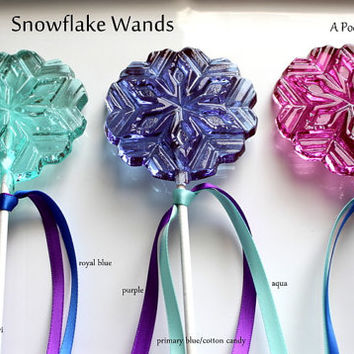 FROZEN Party WANDS LARGE Lollipops Barley Sugar Hard Candy Suckers Gifts Frozen Princess Party