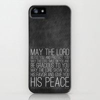 Numbers 6:24-26 The Blessing iPhone Case by Pocket Fuel | Society6