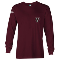 Harvard Mascot Long Sleeve T-Shirt (Crimson)