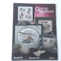 Quilted Keepsakes, Quilt projects, Cross Stitch Pattern, Stoney Creek, Sleeping Girl, Kitten Pattern