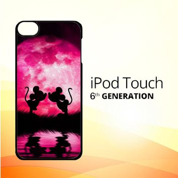 mickey minnie mouse silhouette W4418 iPod Touch 6 Case