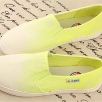 forever2you — GRADIENT CUTE COLORFUL CANVAS SHOES