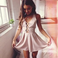 Pulled In Playsuit in Mauve