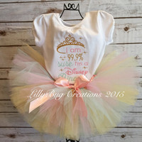 Princess Tutu, Birthday Baby Tutu, Pink, Gold, Mint, Baby Headband, Princess, Birthday, Photo Prop, Princess Theme Tutu
