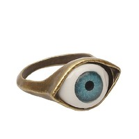 Lovers2009 Punk Style Retro Exaggeration Blue Eye Ring