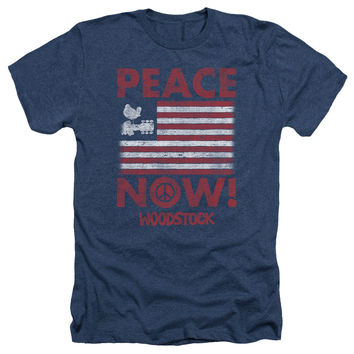 WOODSTOCK-PEACE-NOW-ADULT-HEATHER-NAVY