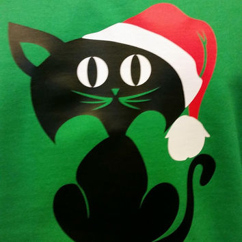 UGLY CHRISTMAS SWEATER -Washable- Jingles the Cat!