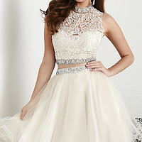 Short Open Back Two Piece Dress by Hannah S