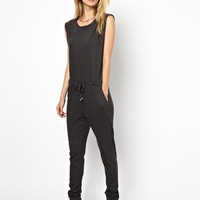 Selected | Selected Valdi Jersey Jumpsuit in Charcoal at ASOS