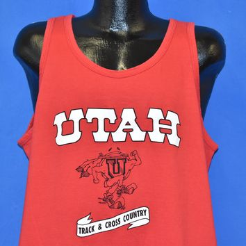 90s Utah Utes Track & Cross Country Tank Top t-shirt Extra Large
