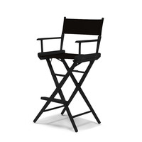 Black World Famous Director Chair- Bar Height - Black Cover