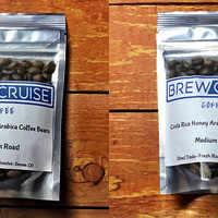 Fresh Roasted Costa Rica and El Salvador Arabica Coffee Bean Sample Pack  2 oz each. 4 oz total. Medium Roast