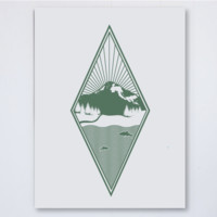 Diamond Green Art Print