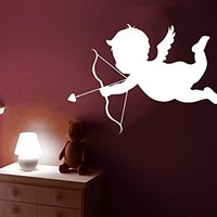 Cupid Wall Decal Love Arrow Heart Valentine Greek Vinyl Sticker Decals Family Kids Room Home Decor Bedroom C570