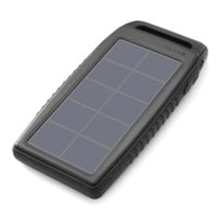 Nekteck Solar Charger 10000mAh Rain-resistant Dirt/Shockproof Dual USB Port Portable Charger Battery with High-Efficiency SunPower Solar Panel Backup Power Pack for All USB Supported Devices, Black