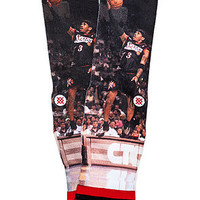 The NBA Legends Allen Iverson Socks in Black & Red