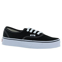 VANS Unisex Authentic Black Canvas VN000EE3BLK Mens 5, Womens 6.5