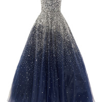 Marchesa | Sequined strapless silk tulle gown | NET-A-PORTER.COM