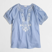 Factory V-neck peasant top : Blouses & Tees | J.Crew Factory