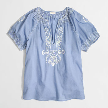 Factory V-neck peasant top : Blouses & Tees   J.Crew Factory