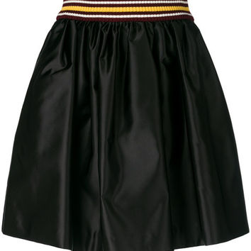 Miu Miu Flared Satin Skirt - Farfetch