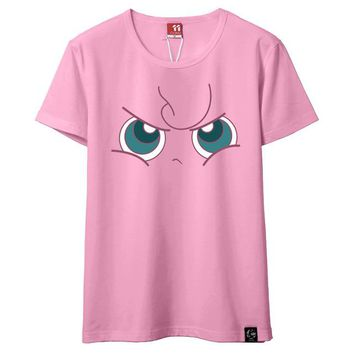 Tops and Tees T-Shirt Pink Jigglypuff T-shirt Monster Unisex Short Sleeve T shirt Games T-shirt Male Funny  Tee Jigglypuff Gengar Psyduck AT_60_4 AT_60_4