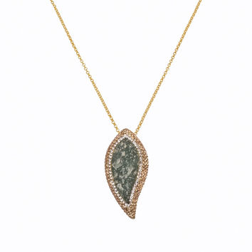 Aventurine Leaf Necklace