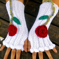 White Gloves, Gloves Crochet, Handmade Gloves, White Knitted Gloves, Fingerless Gloves, Arm Warmers, Warm Glove, Knit Fingerless, Gift Ideas